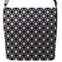 Modern Dots In Squares Mosaic Black White Flap Covers (S)  View1