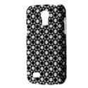 Modern Dots In Squares Mosaic Black White Galaxy S4 Mini View3