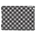 Modern Dots In Squares Mosaic Black White iPad Air Hardshell Cases View1