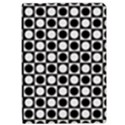 Modern Dots In Squares Mosaic Black White iPad Air Flip View1