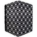 Modern Dots In Squares Mosaic Black White iPad Air Flip View3