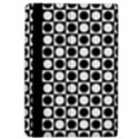 Modern Dots In Squares Mosaic Black White iPad Air Flip View4