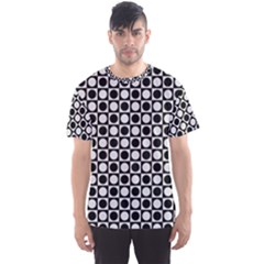 Modern Dots In Squares Mosaic Black White Men s Sport Mesh Tee