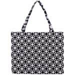Modern Dots In Squares Mosaic Black White Mini Tote Bag