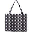 Modern Dots In Squares Mosaic Black White Mini Tote Bag View1