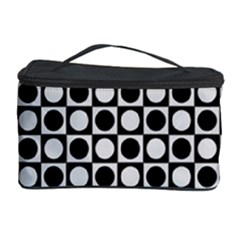 Modern Dots In Squares Mosaic Black White Cosmetic Storage Case