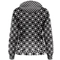 Modern Dots In Squares Mosaic Black White Women s Pullover Hoodie View2