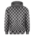 Modern Dots In Squares Mosaic Black White Men s Zipper Hoodie