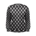 Modern Dots In Squares Mosaic Black White Women s Sweatshirt View1