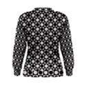 Modern Dots In Squares Mosaic Black White Women s Sweatshirt View2