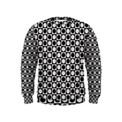 Modern Dots In Squares Mosaic Black White Kids  Sweatshirt