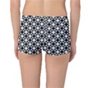 Modern Dots In Squares Mosaic Black White Reversible Boyleg Bikini Bottoms View4