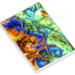 Abstract Fractal Batik Art Green Blue Brown Large Memo Pads