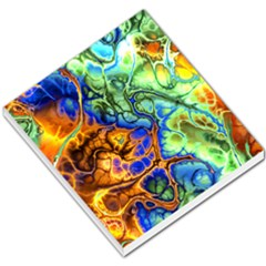 Abstract Fractal Batik Art Green Blue Brown Small Memo Pads by EDDArt