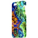 Abstract Fractal Batik Art Green Blue Brown Apple iPhone 5 Hardshell Case View3
