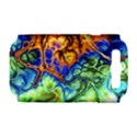 Abstract Fractal Batik Art Green Blue Brown Samsung Galaxy S III Hardshell Case (PC+Silicone) View1