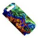 Abstract Fractal Batik Art Green Blue Brown Samsung Galaxy S III Hardshell Case (PC+Silicone) View5