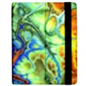 Abstract Fractal Batik Art Green Blue Brown Apple iPad 2 Flip Case View2