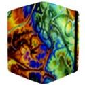 Abstract Fractal Batik Art Green Blue Brown Apple iPad 2 Flip Case View4