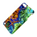 Abstract Fractal Batik Art Green Blue Brown Apple iPod Touch 5 Hardshell Case with Stand View4