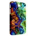 Abstract Fractal Batik Art Green Blue Brown Samsung Galaxy Tab 3 (7 ) P3200 Hardshell Case  View2