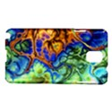 Abstract Fractal Batik Art Green Blue Brown Samsung Galaxy Note 3 N9005 Hardshell Case View1