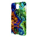 Abstract Fractal Batik Art Green Blue Brown Samsung Galaxy Note 3 N9005 Hardshell Case View3