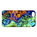 Abstract Fractal Batik Art Green Blue Brown Apple iPhone 5C Hardshell Case View1