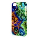 Abstract Fractal Batik Art Green Blue Brown Apple iPhone 5C Hardshell Case View3