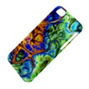 Abstract Fractal Batik Art Green Blue Brown Apple iPhone 5C Hardshell Case View4