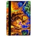 Abstract Fractal Batik Art Green Blue Brown iPad Mini 2 Flip Cases View4