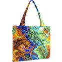 Abstract Fractal Batik Art Green Blue Brown Mini Tote Bag View2