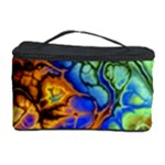 Abstract Fractal Batik Art Green Blue Brown Cosmetic Storage Case