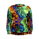 Abstract Fractal Batik Art Green Blue Brown Women s Sweatshirt View1