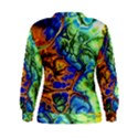 Abstract Fractal Batik Art Green Blue Brown Women s Sweatshirt View2