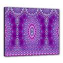India Ornaments Mandala Pillar Blue Violet Canvas 24  x 20  View1