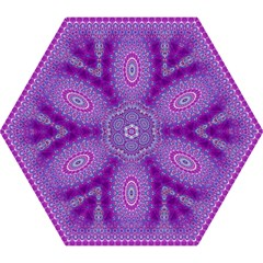 India Ornaments Mandala Pillar Blue Violet Mini Folding Umbrellas by EDDArt