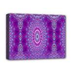 India Ornaments Mandala Pillar Blue Violet Deluxe Canvas 16  x 12