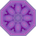 India Ornaments Mandala Pillar Blue Violet Golf Umbrellas View1