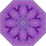 India Ornaments Mandala Pillar Blue Violet Hook Handle Umbrellas (Medium)