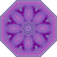 India Ornaments Mandala Pillar Blue Violet Hook Handle Umbrellas (large) by EDDArt
