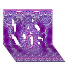 India Ornaments Mandala Pillar Blue Violet Love 3d Greeting Card (7x5) by EDDArt