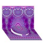 India Ornaments Mandala Pillar Blue Violet Circle Bottom 3D Greeting Card (7x5)