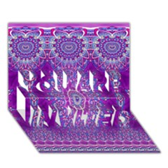 India Ornaments Mandala Pillar Blue Violet You Are Invited 3d Greeting Card (7x5) by EDDArt