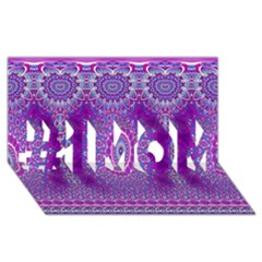 India Ornaments Mandala Pillar Blue Violet #1 Mom 3d Greeting Cards (8x4) by EDDArt