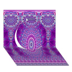 India Ornaments Mandala Pillar Blue Violet Circle 3d Greeting Card (7x5) by EDDArt