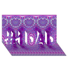 India Ornaments Mandala Pillar Blue Violet #1 Dad 3d Greeting Card (8x4) by EDDArt