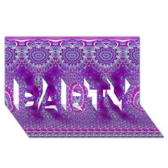 India Ornaments Mandala Pillar Blue Violet Party 3d Greeting Card (8x4) by EDDArt