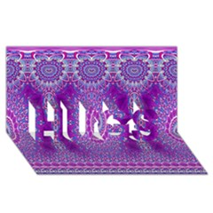 India Ornaments Mandala Pillar Blue Violet Hugs 3d Greeting Card (8x4) by EDDArt