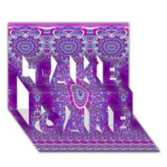 India Ornaments Mandala Pillar Blue Violet Take Care 3d Greeting Card (7x5) by EDDArt